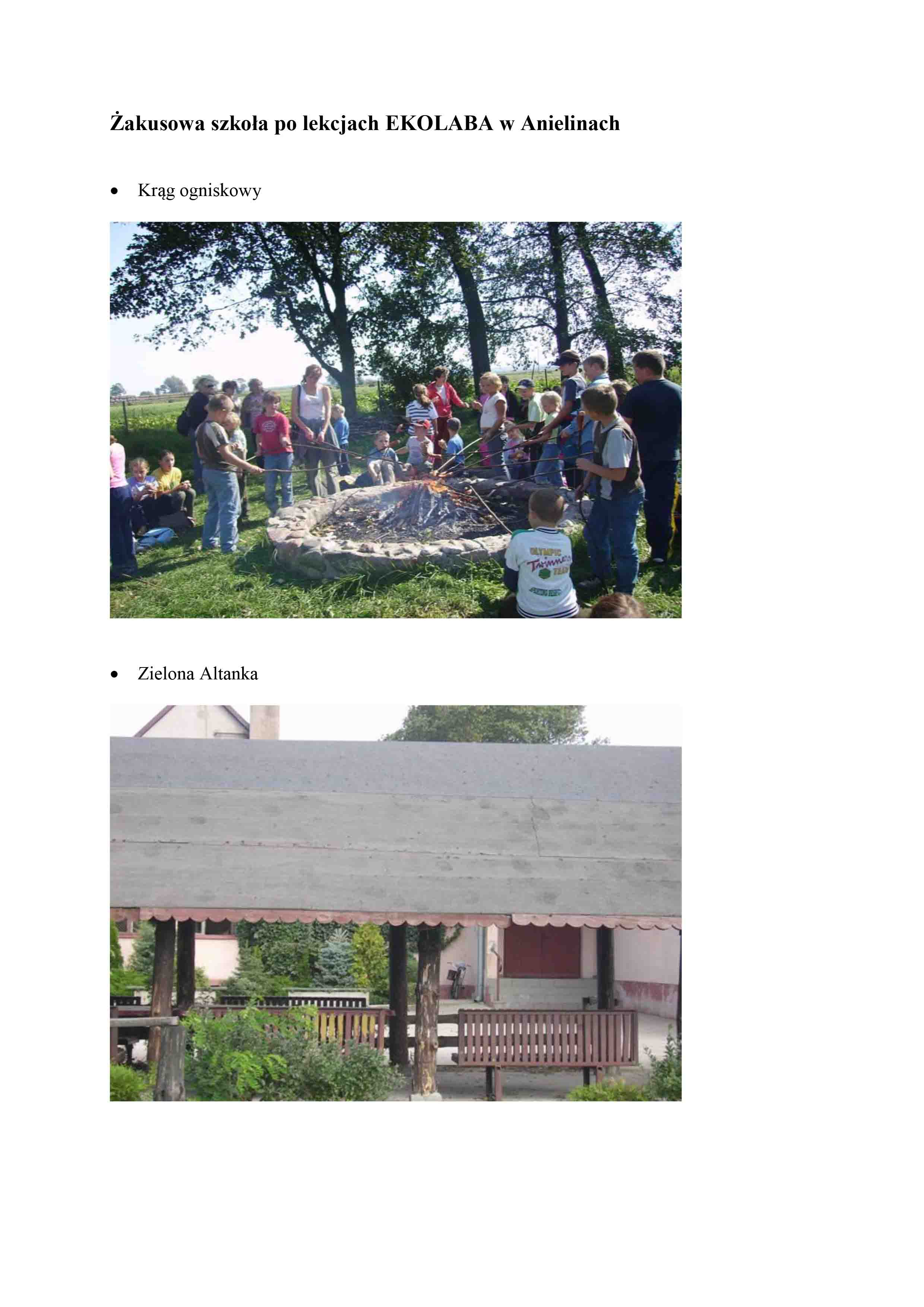 Żakusowa szkoła po lekcjach EKOLABA w Anielinach
