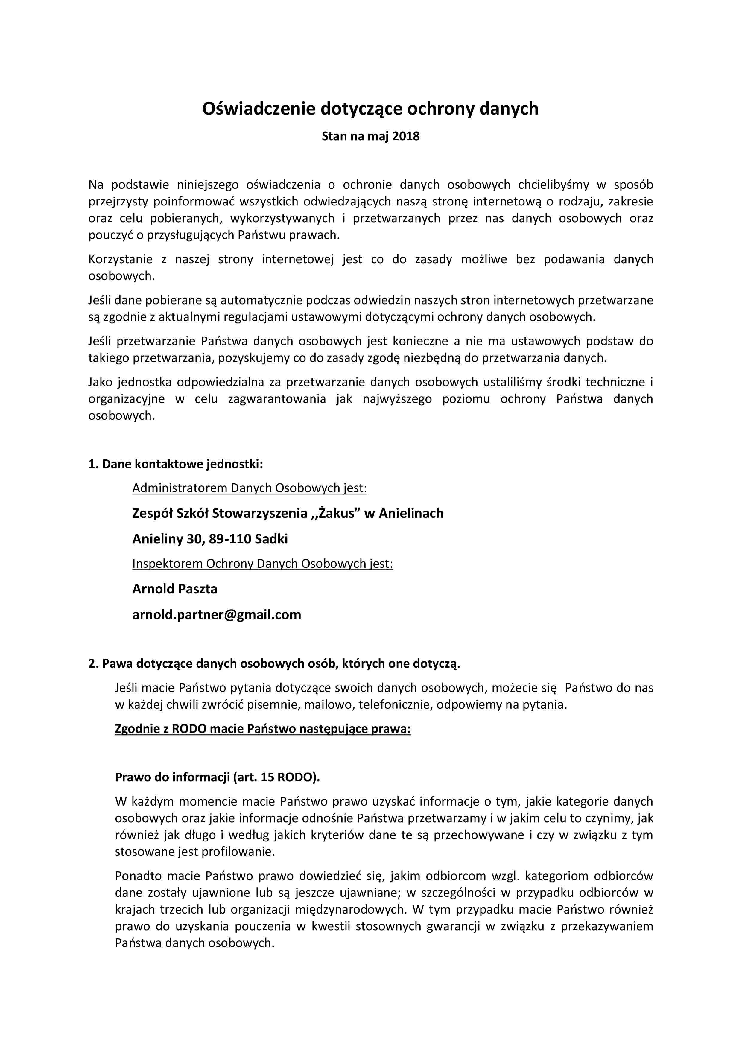 Oświadczenie dotyczące ochrony danych-1